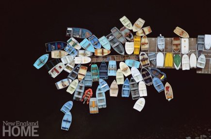 Alex MacLean_Dinghies Clustered Around Dock