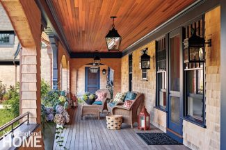 Rhode Island Shingle Style Front Porch