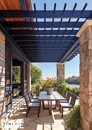 Rhode Island Shingle Style Back Porch