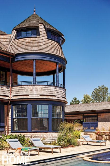 Rhode Island Shingle Style Bamboo Columns