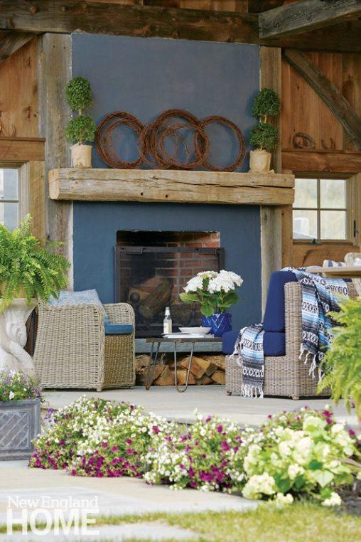 Perkins Morris Litchfield County Outdoor Fireplace