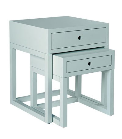 guest room style scheme light blue bedside tables from serena and lily