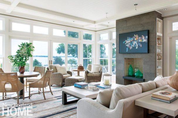 Jamestown Shingle Style Living Room