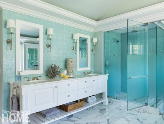 Dan Koppen Rhode Island Shingle Style Master Bathroom