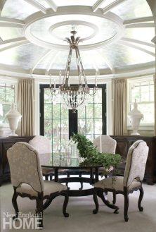 Dining room in Brookline home designed by Meyer & Meyer.