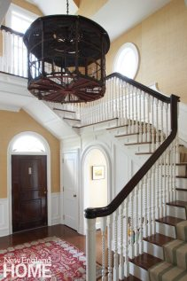 Litchfield County Neoclassical Entryway