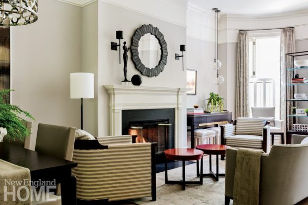 Nicole Hogarty Boston Townhouse Living Room