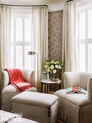 Nicole Hogarty Boston Townhouse Neutral Bedroom Sitting Area