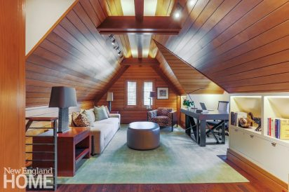 Lda Architects Wellesley Tudor-Style Home Attic