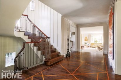 Lda Architects Wellesley Tudor-Style Home Stenciled Floor