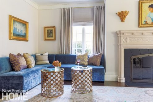 Lda Architects Wellesley Tudor-Style Home Living Room