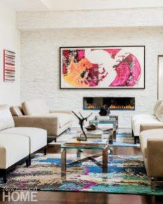 Vibrant Family Home Living Room
