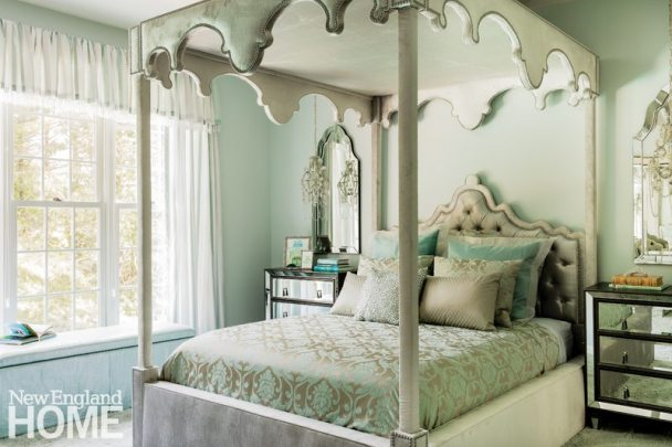 Vibrant Family Home Elegant Girl's Bedroom