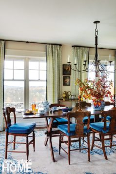 Sheldon Penoyer New Hampshire Farmhouse Blue and White Dining Room