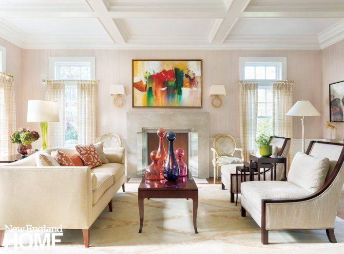 Living Room Weston Massachusetts Home