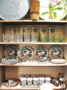 Cottage and Garden Newport Rhode Island Glasses and Plates