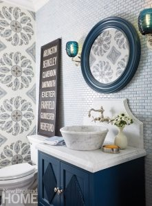Updated traditional Powder Room