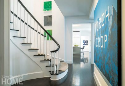Modern and Minimalist Boston Townhouse Stairs