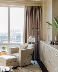 Contemporary and Family Friendly Boston Master Condo Bedroom Reading Area