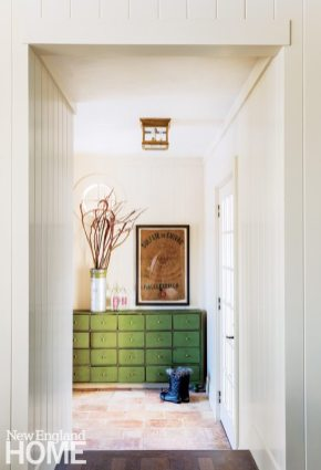 Neutral and Sophisticated home in Concord, Massachusetts Mudroom