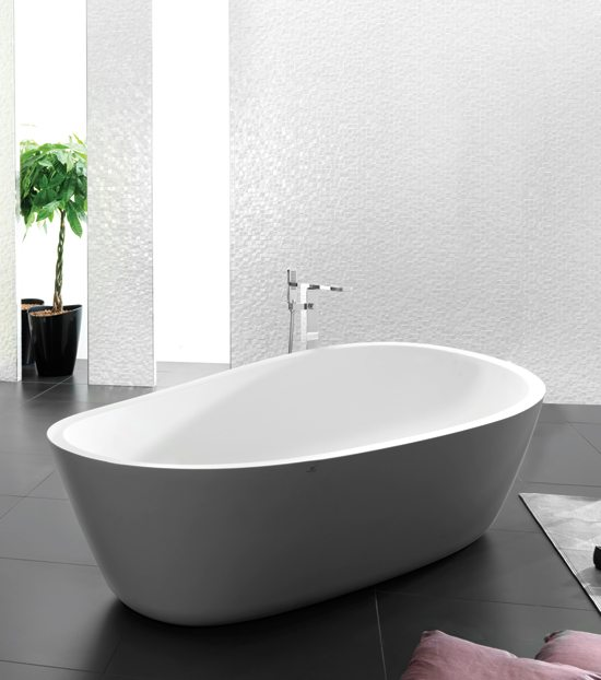 Almond: KRION Bathtub