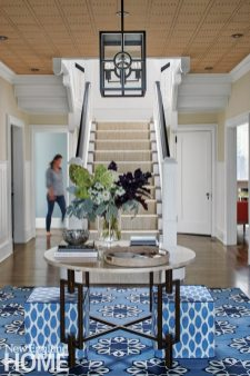 Hingham Tudor Style Blue and White Foyer