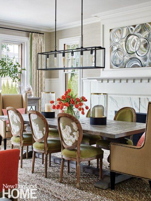 Hingham Tudor Style Dining Room