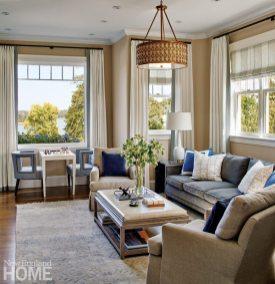 Hingham Tudor Style Master Bedroom Seating Area