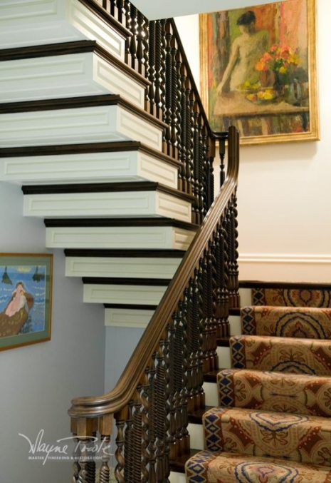 Wayne Towle Wood and Furniture Refinishing Stairway