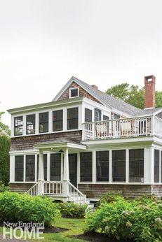 Coastal Maine Cottage Rear Exterior