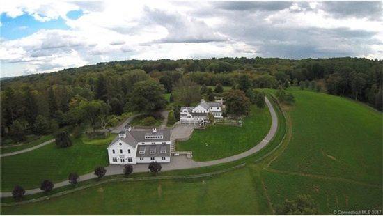 Aeriel view estate pompfret, CT