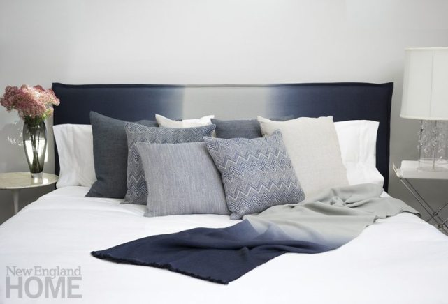 Rosemary Hallgarten Bed with Pillows and Ombre Throw