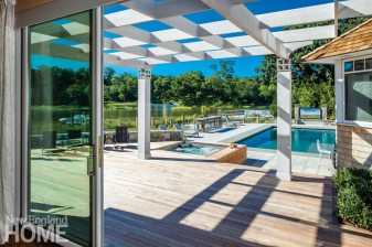 Outdoor Entertaining Space Pool and Spa