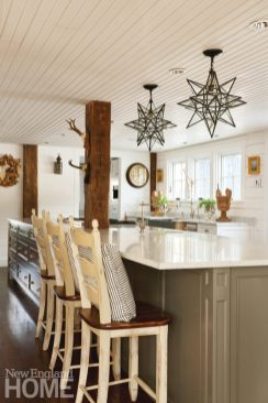 Colonial-Era Home Kitchen Island