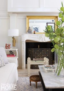Renovated Barn Living Room Fireplace