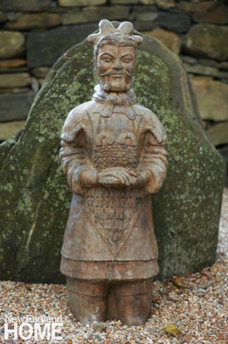 Renovated Barn Peaceful Warrior Garden Statuary