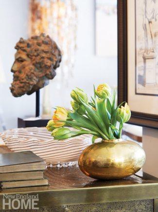 Sconset Square Westport Swoon Gold Vase