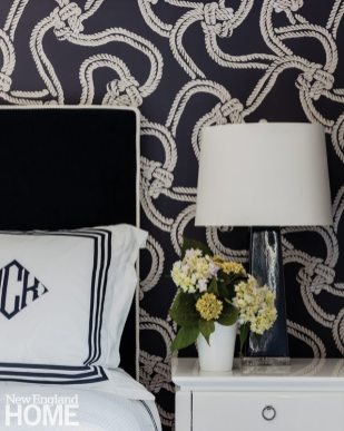 Cape Cod Cottage Rope Wallpaper