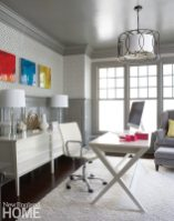Home offices, such as this one by Connecticut designer Molly Hirsch, are finding greater favor.