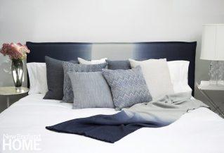 Connecticut textile designer Rosemary Hallgarten's collection includes this luscious ombré alpaca fabric.