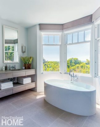 Hutker Architects Master Bathroom with Freestanding Tub