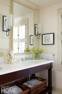 Chappaquiddick Shingle Cottage Guest Bathroom