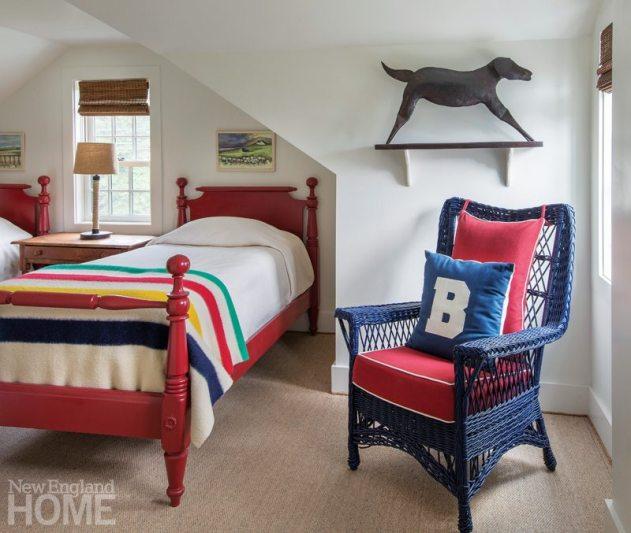 Restored Amos Otis House Guest Room