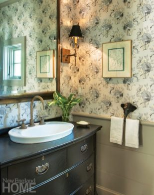 Restored Amos Otis House Powder Room