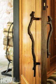 Detail of twig door handle.