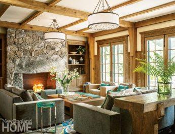 Lake Sunapee Camp Living Room
