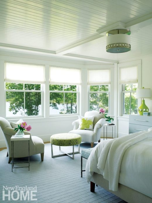 Rhode Island Shingle Style Master Bedroom