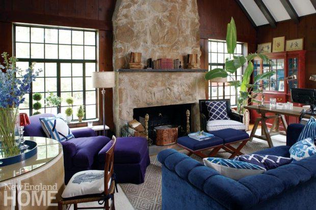 Darien Stone Cottage Living Room