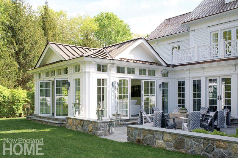 Brooks & Falotico New Canaan conservatory Exterior