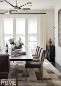 Contemporary Boston town home dining room